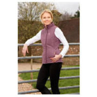 tesco ladies purple riding waistcoat size 12 This ladies riding waistcoat has a 100% polyester lining with a water resistant hi-tech micro peach poplin shell. This waistcoat features a warm, hollow fibre insulation and adjustable gusseted vents. http:...