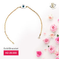 Give her the gift of exceptional quality with this timeless gold bracelet.