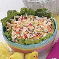 Easter Grass Slaw Recipe - This is much tastier than your typical slaw recipe. I've made it year round and its ALWAYS a crowd pleaser!