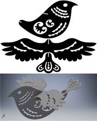 3D Puzzle Ornamental Bird and Scorpion Just for: $14.99