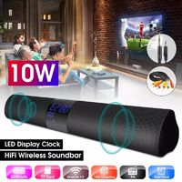 Bakeey 10W HiFi Wireless bluetooth Soundbar Dual Clock Dual Driver Bass Stereo FM Radio TF Card U Disk Speaker