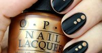 Amp up that classic black mani with a little glitz and gold in this week's Black and Gold Dotted Nail Tutorial!
