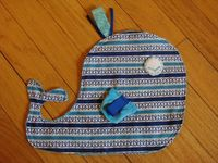 Whale Taggie Blanket