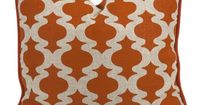 Add a pop of pattern to your sofa or favorite arm chair with this down-filled art silk and linen pillow, showcasing a quatrefoil motif in orange. ...
