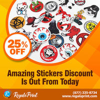 Amazing 25% Stickers Discount Is Out From Today - Visit RegaloPrint.Com