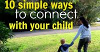 10 simple ways to connect with your child. Each week for the next ten weeks, I'll be sharing one simple idea that you can implement right now, to foster a more connected relationship with your child. Each post will take less than 5 minutes to read a...