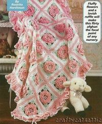 rose..beautiful afghan for baby girl..probably need to use a recieving blanket with it for warmth in winter