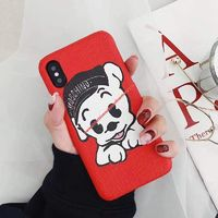 Moschino Pudgy iPhone Case Red