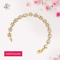 This floral gold bracelet has a charming floral essence. Perfect for all occassions. 