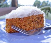 """Gluten-Free Coconut Carrot Cake. probably a somewhat guilt free version of 2 of my favorite things. also, my very first post to my """"Health"""" board. only took me 2 weeks.."""