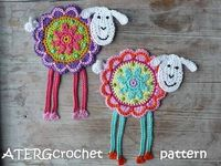 Crochet pattern flower sheep by ATERGcrochet by ATERGcrochet,