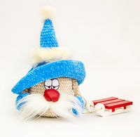 Winter crochet Gnome with sled, as cute Christmas gift for girlfriend. Soft crochet amigurumi. Christmas home decoration. Winter table decor $48.00