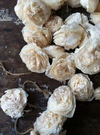 Mica Covered Paper Flower Garland