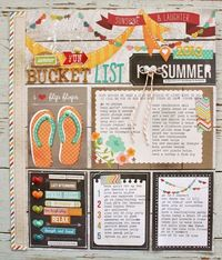 #papercraft #scrapbook #layout From Mish Mash - July Gossamer Blue....Bucket List page http://michellewooderson.blogspot.com/