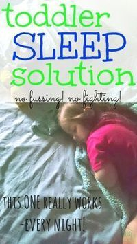 "fed up with all the ""sleep solutions"" out there, one mom came up with something to get her little one to go to sleep, and it WORKS!"