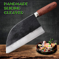 Handmade Cleaver Chinese kitchen knife meat vegetables fish slicing tools $112.00