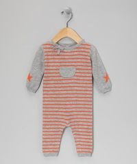orange and gray boy outfit to knit
