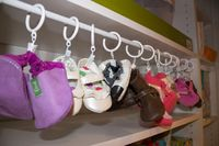 DIY Baby Shoe Organizer - Use a tension rod and shower curtain clips inside the closet to hang baby shoes. Brilliant!