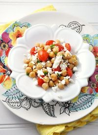 Chickpea, Feta & Tomato #Recipe {#Salad, #Side Dish, #Vegetarian, #Gluten-Free}