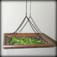 Herb drying rack from picture frame and screening or cheesecloth.