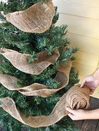 Wrap burlap instead of ribbions for a rustic look.