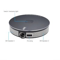 AUN D8S Projector 300 inch 2G+32G 1280x720P Android WIFI Portable 3D LED 1080P 4K MINI Projector