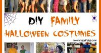 Here are some DIY Family Halloween Costumes that are fun, creative and a great way to get the whole family involved with Halloween.