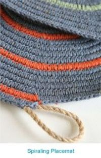 "The advantage of crocheting over rope is that it allows you to make crocheted items with substance, form, and weight,"" says designer Lena Maikon. ""You can crochet a sturdy carpet that is heavy and stays in one place. - (leisure arts) forgo..."
