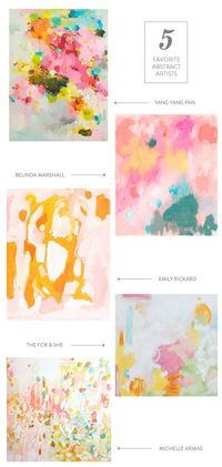 five favorite abstract artists || www.emformarvelous.com