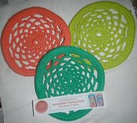 Flying Doily Frisbee by Pan Perkins