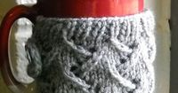 Free Knitting Pattern - Cozies: Spring Wind Mug Sweater