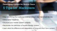Developing Content for Mobile Users - 5 Tips for Marketers