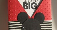 """Can you imagine getting this card from your family and it says: """"You are going to Disneyworld!!"""""""