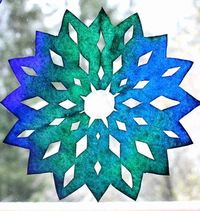 It just isn't winter until we've made our own snowflakes to decorate the windows and walls. Though snowflakes are often made with regular pa...