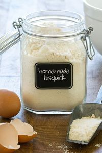 Homemade Bisquick is incredibly easy. And so convenient to have on hand.