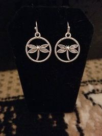 Silver Dragonfly Earrings $8.00