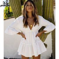 White Beach Dress Cover up $25.78