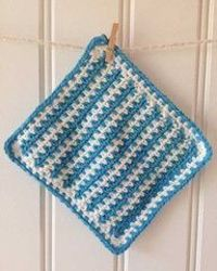 Maggie's Crochet · Rapid Blue Dishcloth - Free Crochet Pattern