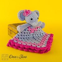 Ravelry: Elephant Security Blanket pattern by Carolina Guzman.