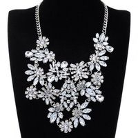 New Fashion Charm Jewelry Cluster Acryl Bead Choker Chain Statement Bib Necklace