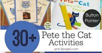 30+ Pete the Cat learning activities for your preschool, pre-k, or kindergarten classroom. Make learning FUN with Pete the Cat!