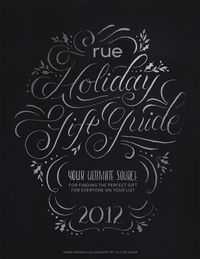 Rue Magazine 2012 Holiday Gift Guide by Jill De Haan, via Behance