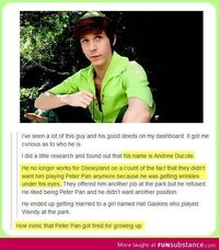 """This is actually really sad."" I never got to visit him in the parks, but I did find him and kept up with him pre-disney departure and still do. I find his legacy not sad, but rather incredible. Andrew Ducote is incredible and inspirational. Disne..."