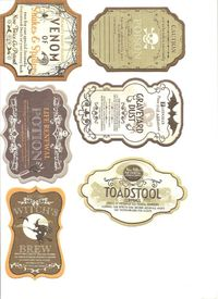 Free halloween printable paper bottle lables   Small Hearts Desire: Halloween Labels for Potion Bottles and Jars