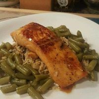 Salmon with Brown Sugar and Bourbon Glaze