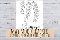 May Mood Tracker for Bullet Journal, with moods or customizable Moods in 3 sizes