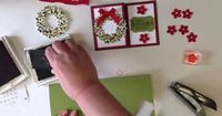 Stampin' Up! cardmaking video ... half card easel ... How to make a fold flat Wondrous Wreath card ... YouTube