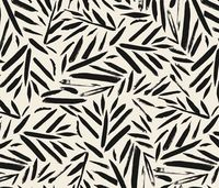 Not So Black and White Leaves fabric by crystal walen on Spoonflower - custom fabric