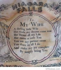 """Love poem '�'�"""" To My Wife"""