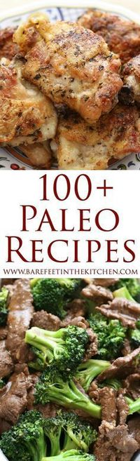 100+ Paleo Recipes (gluten free, grain free, and mostly dairy free) Whole30 recipes